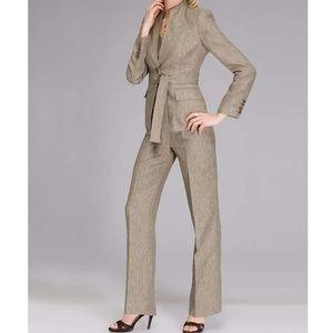 EUC Linen blend pant and jacket suit 2pc set
